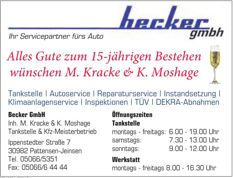 Becker GmbH Tankstelle & Kfz-Meisterbetrieb