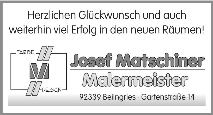 Josef Matschiner - Malermeister