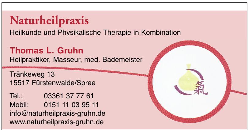 Naturheilpraxis Thomas L. Gruhn