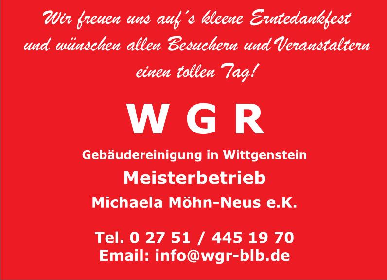 WGR Gebäudereinigungen im Wittgenstein Michaela Möhn-Neus e.K.