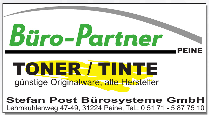 Büro-Partner Peine Stefan Post Bürosysteme GmbH