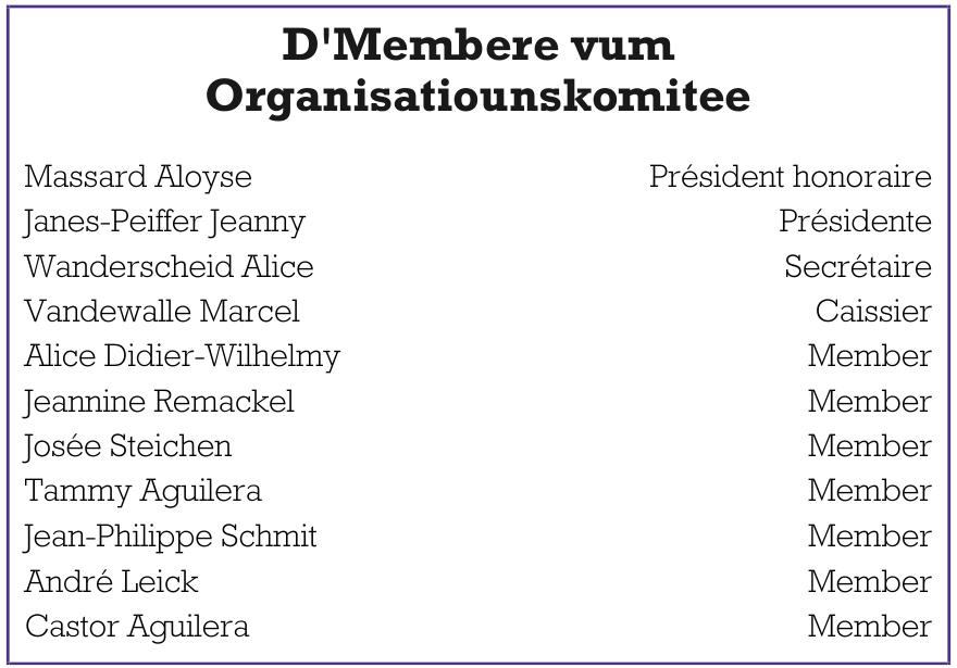 D´Membere vum Organisatiounskomitee