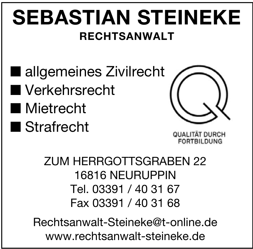 Sebastian Steineke Rechtsanwalt