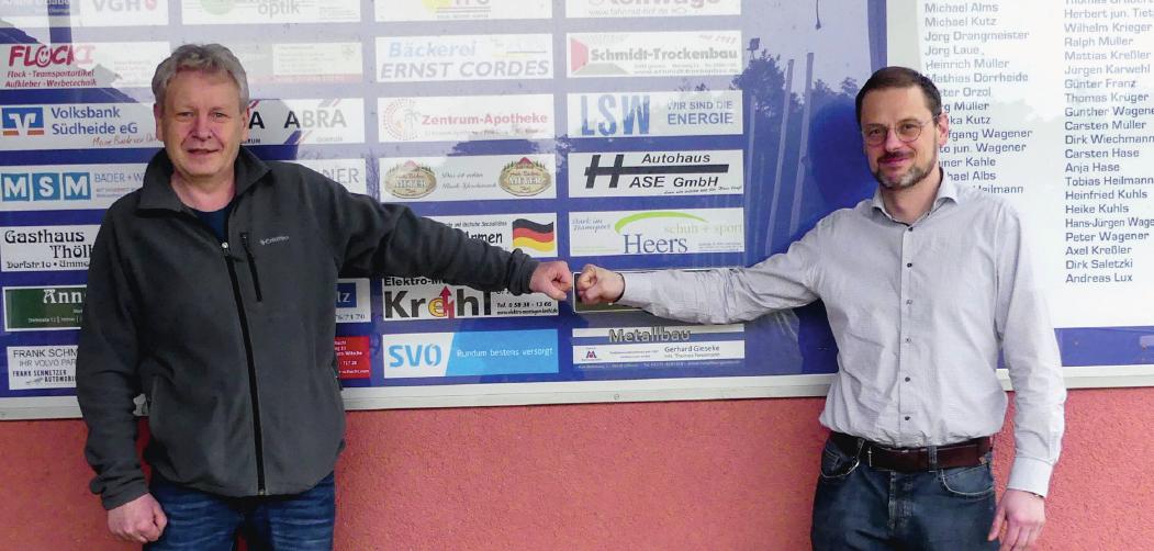 Ralph Müller (rechts) und Jörg Laue (links) sind dankbar für die vielen engagierten Mitstreiter im Verein.