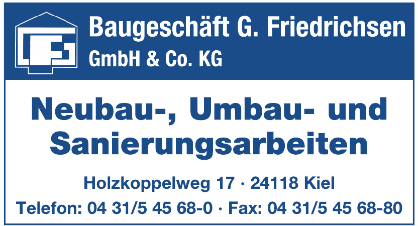 Baugeschäft G. Friedrichsen GmbH & Co. KG
