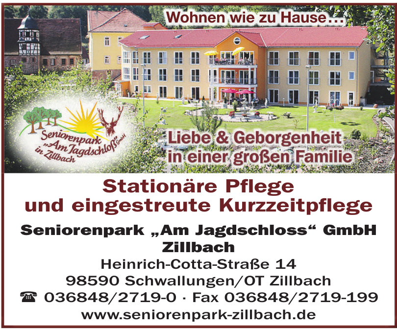 "Seniorenpark ""Am Jagdschloss"" GmbH Zillbach"