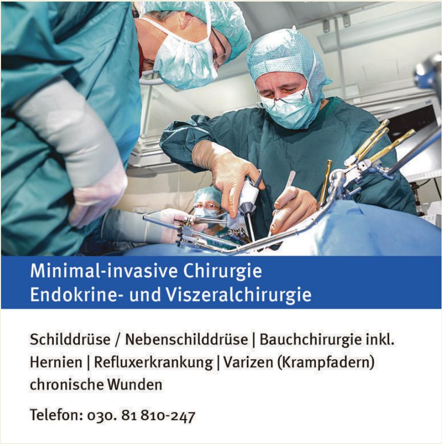 Minimal-invasive Chirurgie Endokrine- und Viszeralchirurgie
