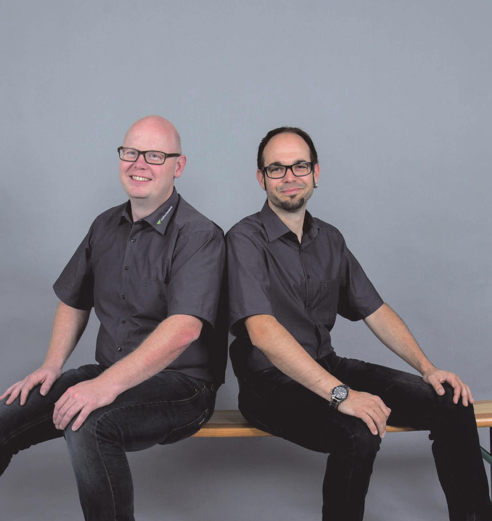 Kreativität und solide Handwerkkunst verkörpern Michael Meihack (l.) und Stefan Sellwig. FOTOS: MEIHACK & SELLWIG