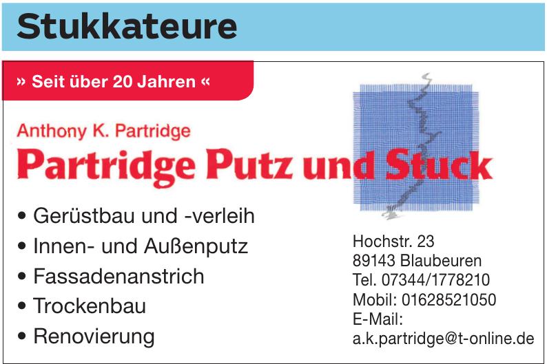 Anthony K. Partridge - Partridge Putz und Stuck