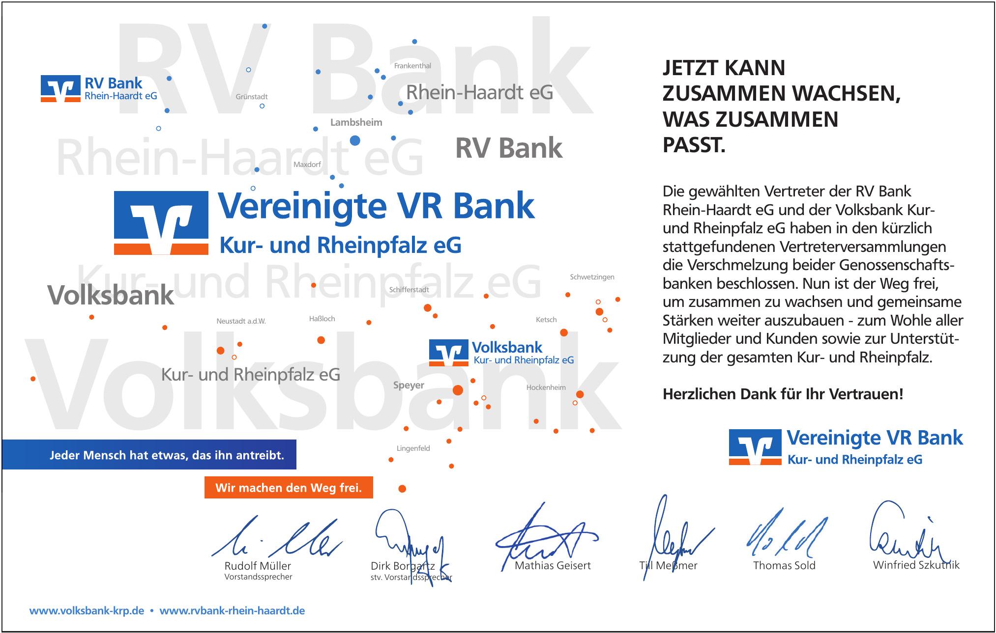 Vereinigte VR Bank Kur- und Rehinpflaz eG