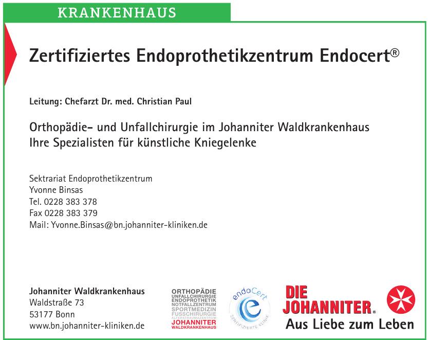 Zertifiziertes Endoprothetikzentrum Endocert®