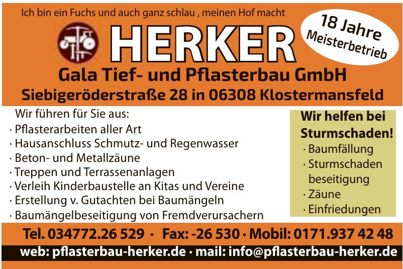 Herker Gala Tief- und Pflasterbau GmbH