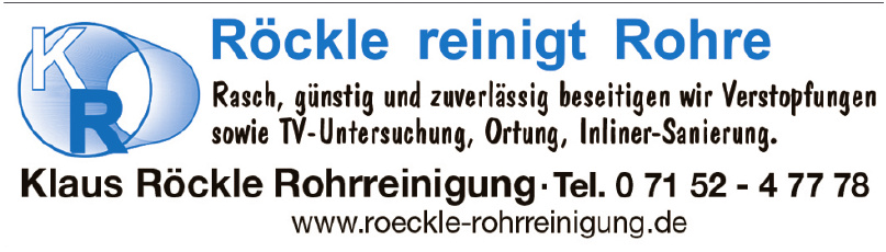 Klaus Röckle Rohrreinigung