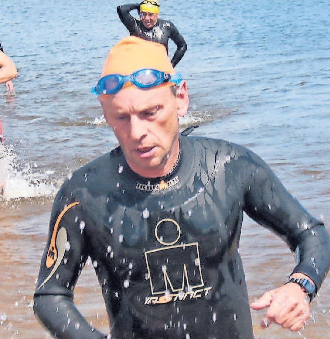 Die Herausforderungen beim Triathlon sind sehr hoch – Raimund Kupka nimmt sie in Angriff. FOTO: PRIVAT