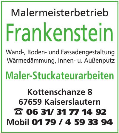 Malermeisterbetrieb Frankenstein