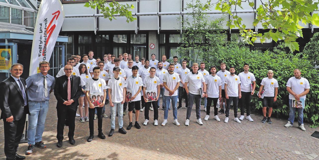 Die neuen Berufsfachschüler wurden feierlich begrüßt. Foto: Constantin Fetzer