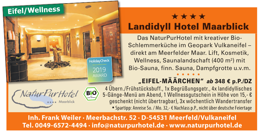 Landidyll Hotel Maarblick