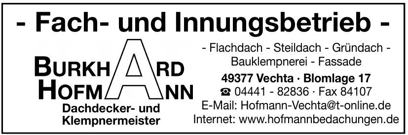 Hofmann Burkhard Dachdecker- und Klempnermeister