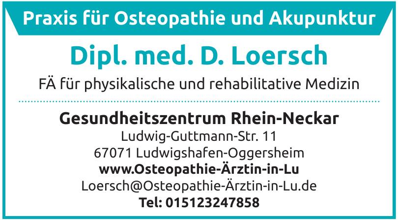 Praxis für Osteopathie und Akupunktur - Dipl.med. Dalia Loersch