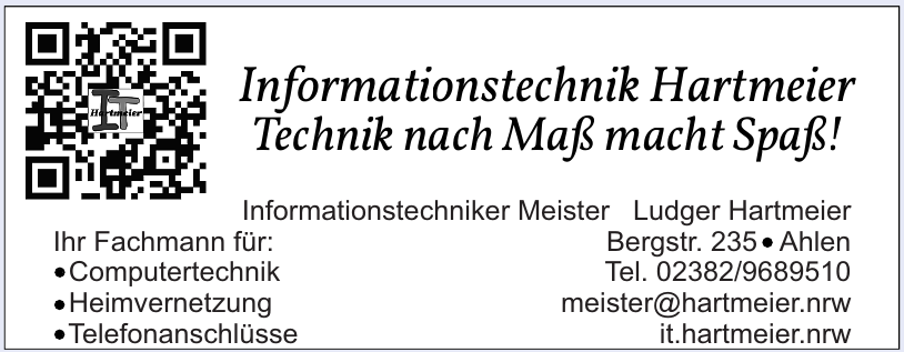 Inh. Ludger Hartmeier Informationstechniker Meister