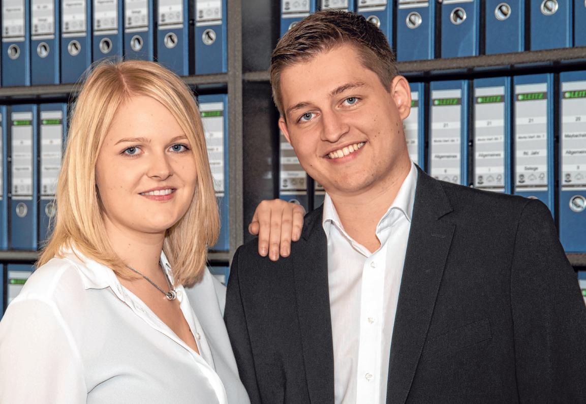 Ab 1. Juli wird Anna Hörmann die Geschicke der Hörmann GmbH leiten, in die sie vor sieben Jahren eingestiegen ist. Ihr Lebensgefährte Manuel Schänzle gehört auch zu ihrem sechsköpfigen Team.
