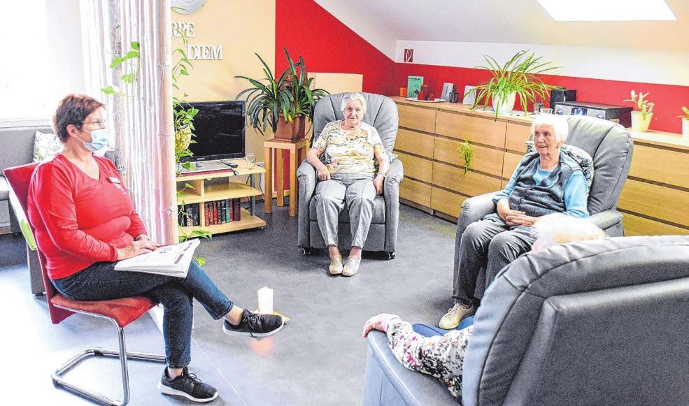 Bei Bedarf erhalten die Senioren Hilfe zur Entspannung.