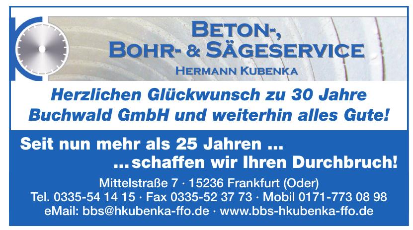 Beton Bohr- & Sägeservice Hermann Kubenka