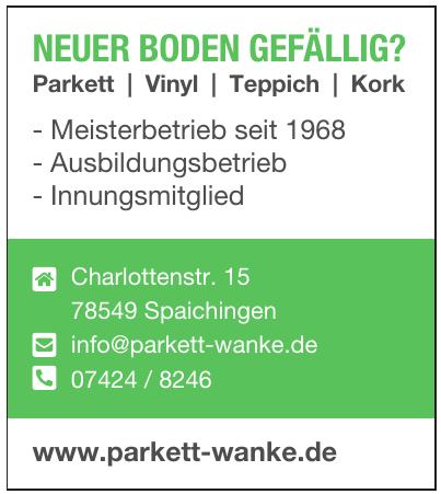 Parkett-Wanke