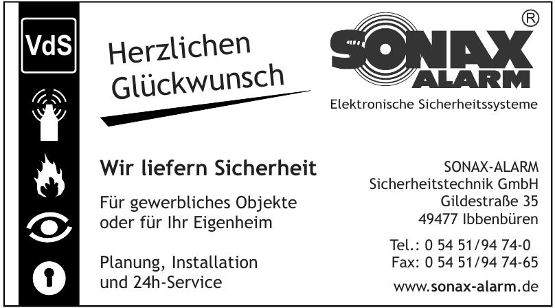 Sonax-Alarm Sicherheitstechnik GmbH