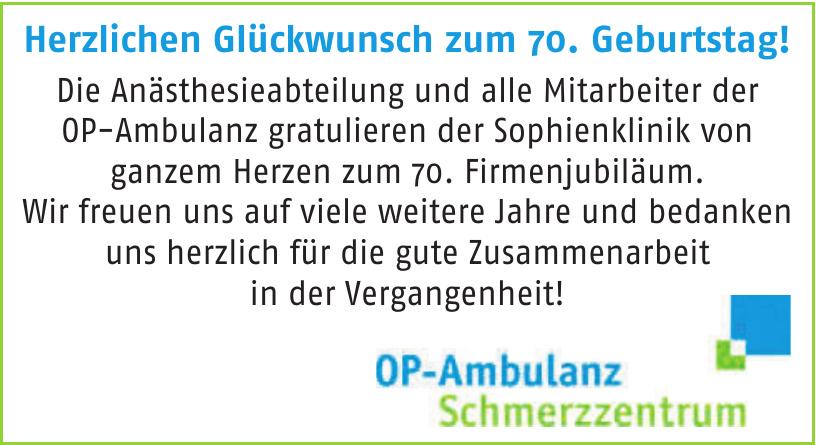 OP-Ambulanz Schmerzzentrum