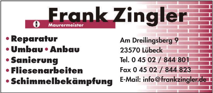 Frank Zingler Maurermeister