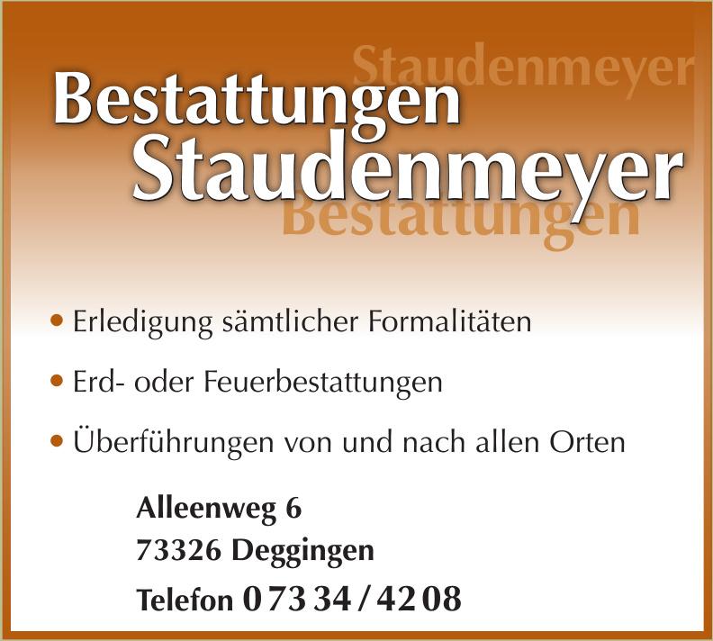 Bestattungen Staudenmeyer