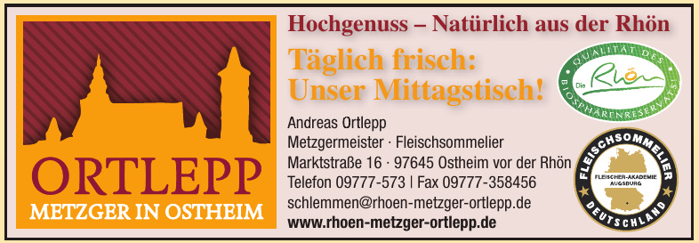 Andreas Ortlepp Metzgermeister - Fleischsommelier