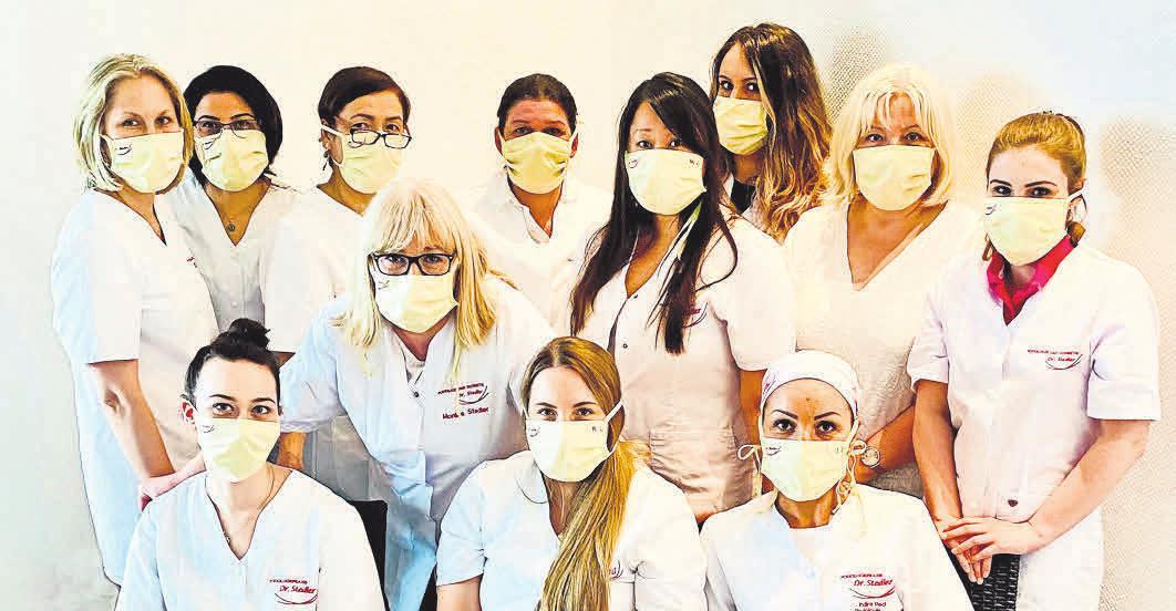 Das Dr. Stedler-Team bietet qualifizierte podologische Behandlungen an.