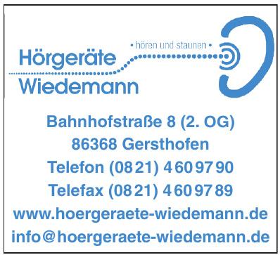 Hörgeräte Wiedemann