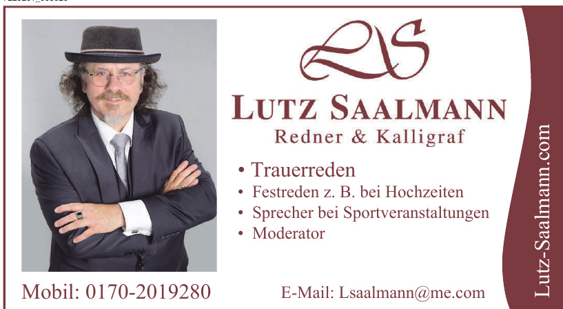Lutz Saalmann Redner & Kalligraf