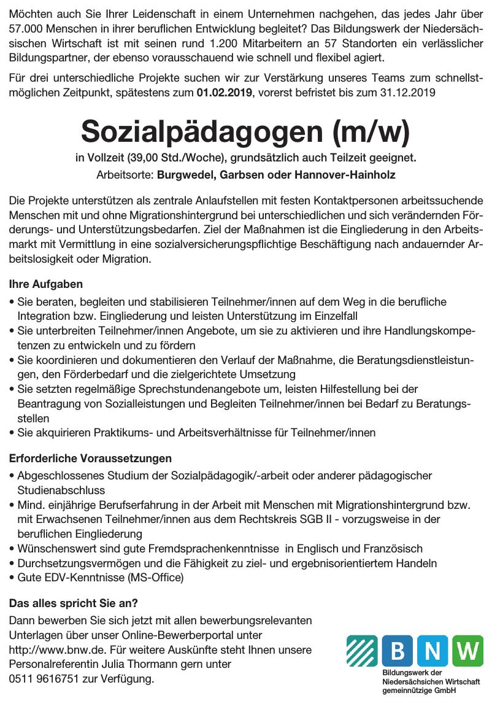 Bildungswerk der Niedersächsischen Wirtschaft gemeinnützige GmbH