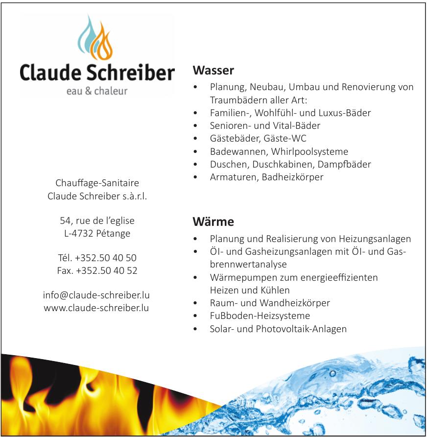 Chauffage-Sanitaire Claude Schreiber s.à.r.l.