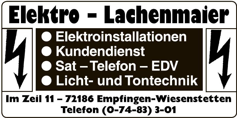 Elektro - Lachenmaier