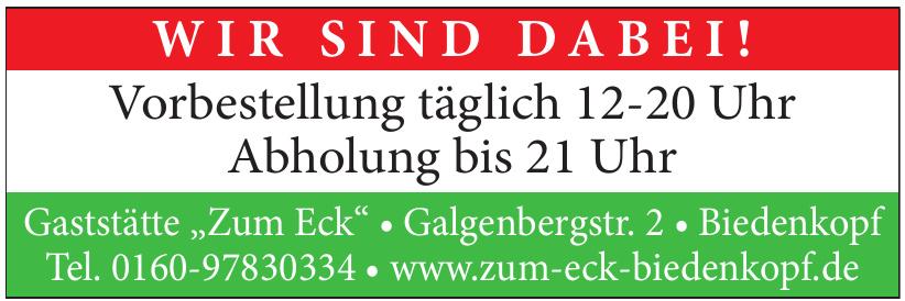 """Gaststätte ''Zum Eck"""""""