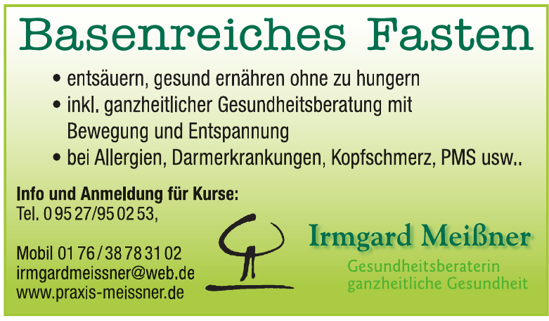 Irmgard Meißner - Gesundheitsberaterin / HPA