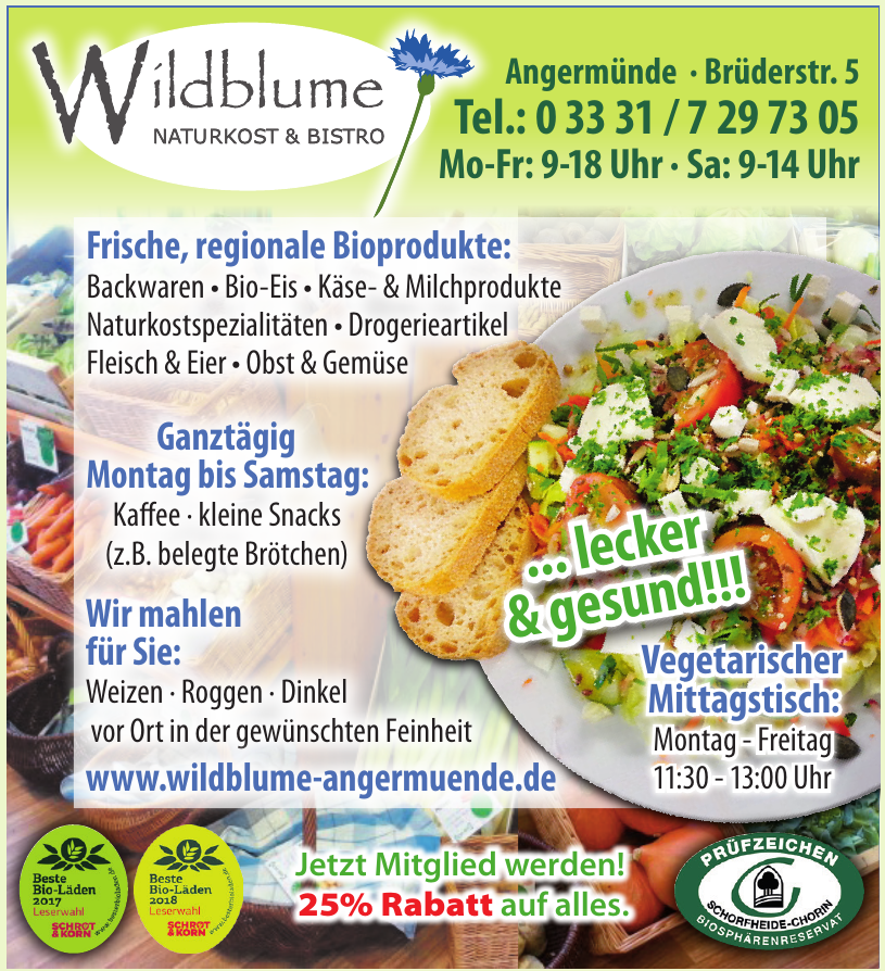 Wildblume - Naturkost & Bistro