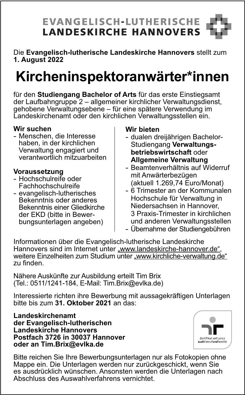 Landeskirchenamt der Evangelisch-lutherischen Landeskirche Hannovers