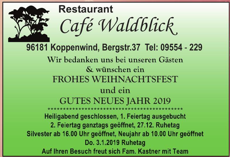 Restaurant Café Waldblick