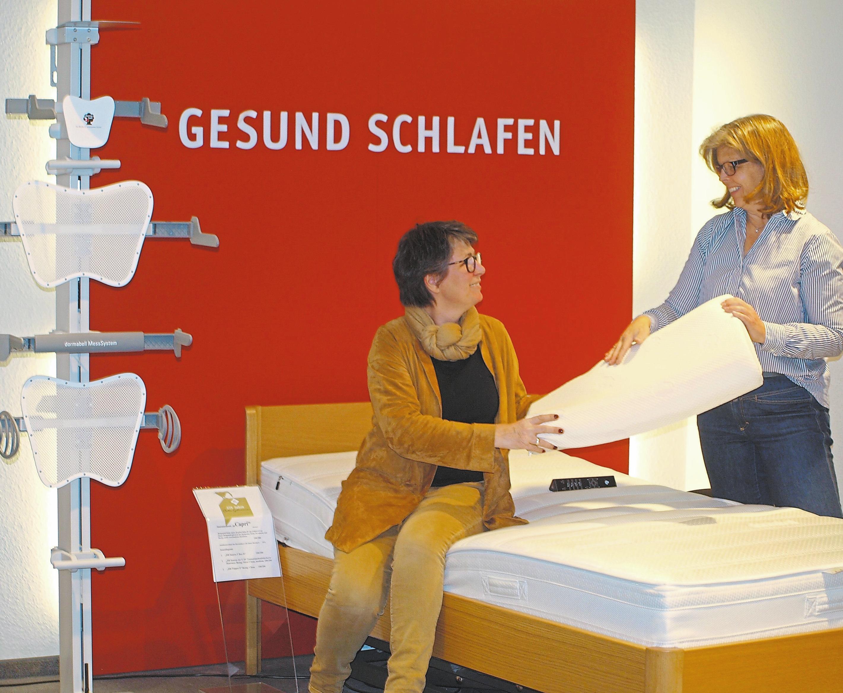 """Das Thema """"Gesund schlafen"""" ist ein Schwerpunkt im Angebotsportfolio von Betten Gahrmann"""