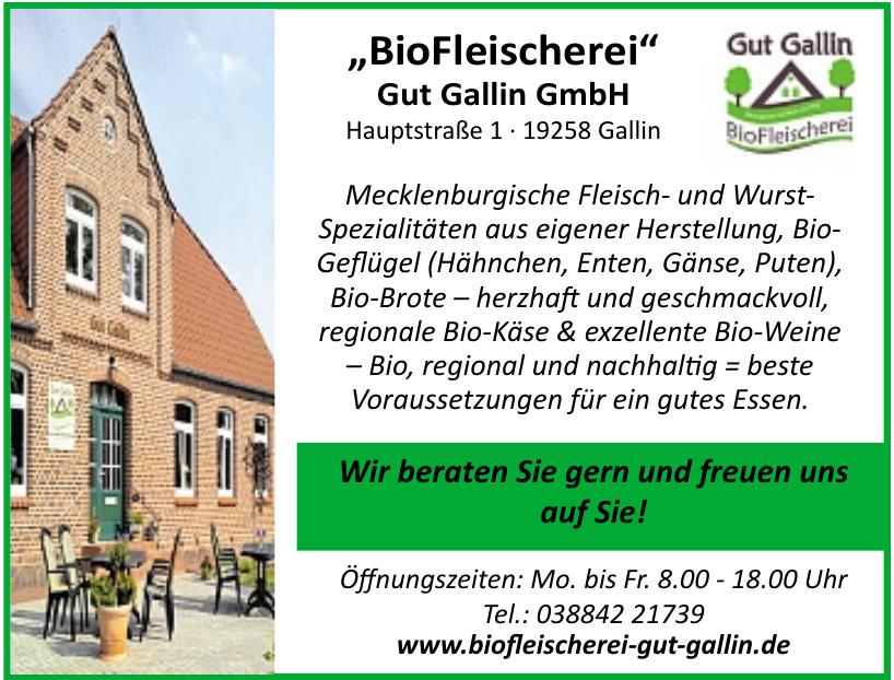 Bio Fleischerei Gut Gallin GmbH