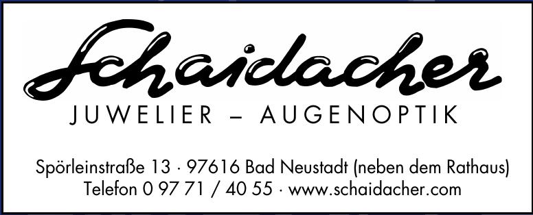 Schaidacher Juwelier - Augenoptik