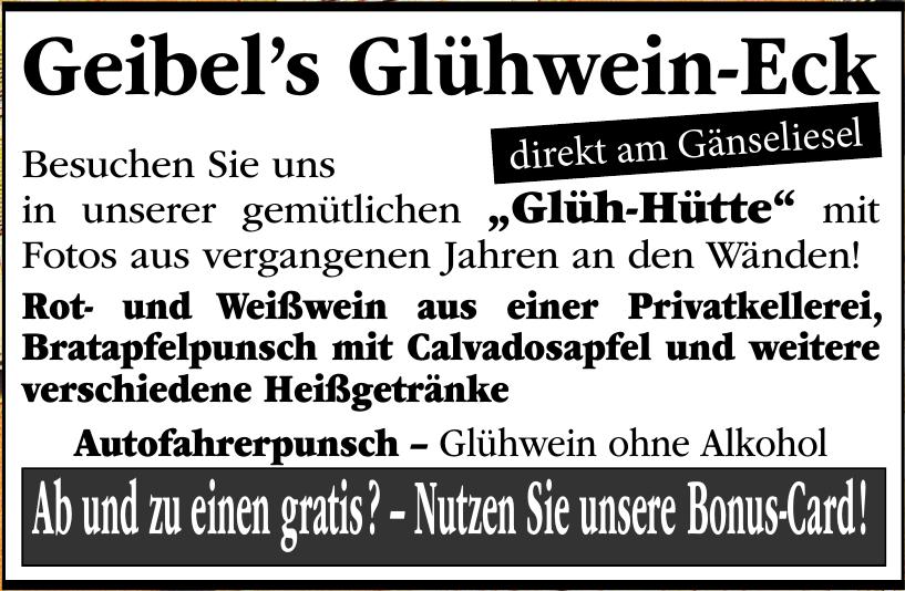 Geibel's Glühwein-Eck