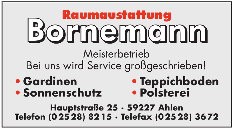 Raumaustattung Bornemann