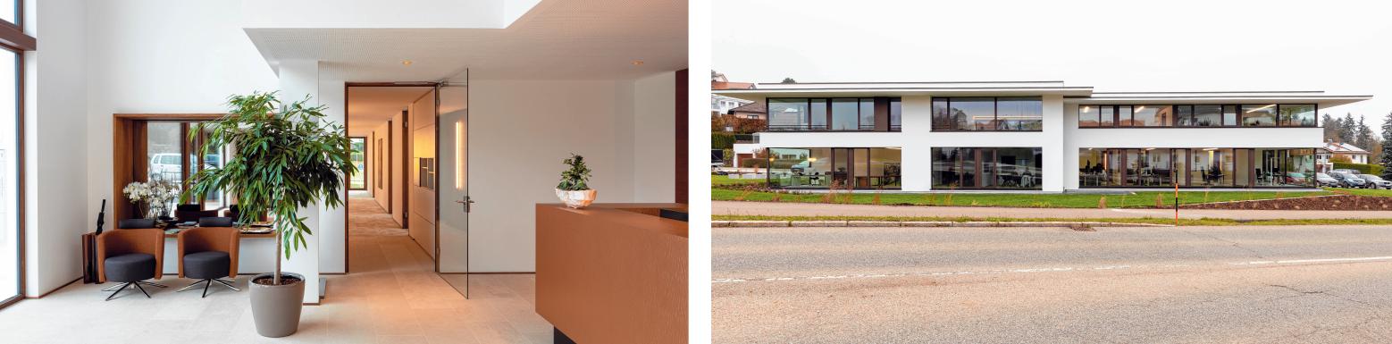 Moderne Architektur prägt das Gebäude des Business-Forums in Erolzheim. FOTOS: PRIVAT